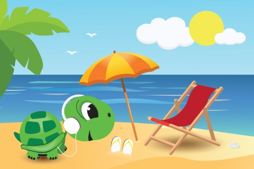 GRAWE TOBI na plaži